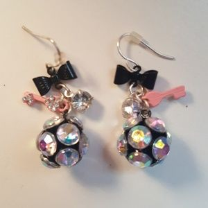 Other - Girls Earrings - Dangling balls with jewels